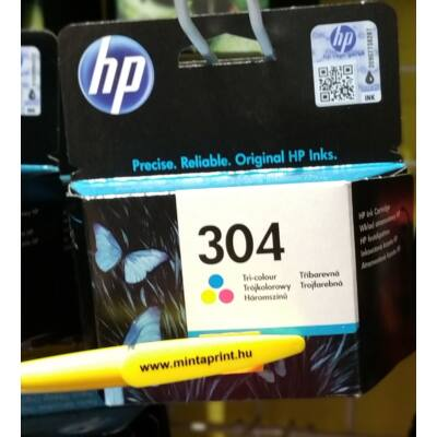HP 304 COLOR EREDETI PATRON N9K05