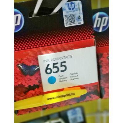HP 655/CZ110 CYAN EREDETI PATRON