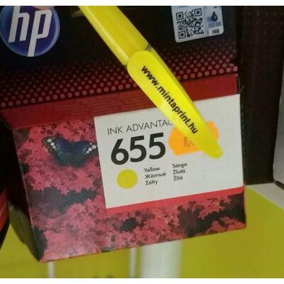 HP 655/CZ112 YELLOW EREDETI PATRON