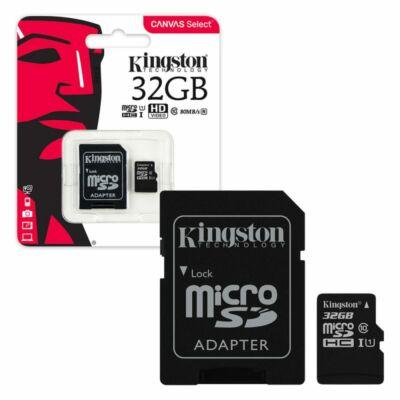 MicroSDHC Kingston 32GB Canvas Select Class10 UHS- I + adapterrel