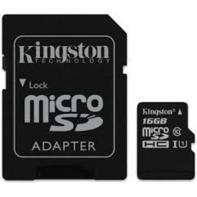MicroSDHC Kingston 16GB Canvas Select Class10 UHS- I + adapterrel