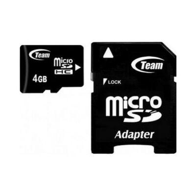 MicroSDHC  TeamGroup 4GB Class 4 + adapterrel